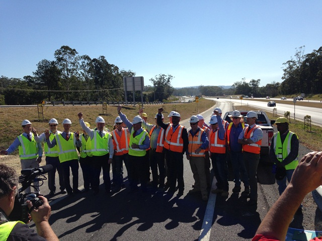 Official opening ceremony of the Sapphire to Woolgoolga project on 30 July 2014.